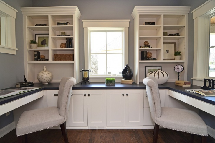 Traditional White Home Office Furniture Idea