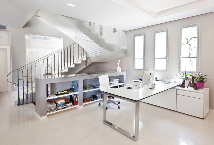 16 white home office furniture designs ideas plans for Large home office