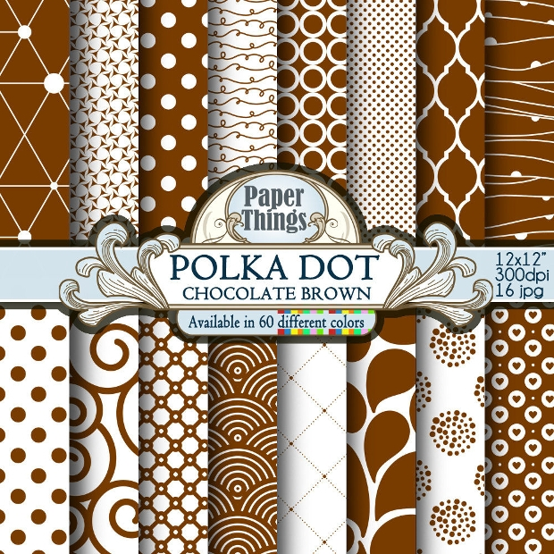 Polka Dot Chocolate Patterns