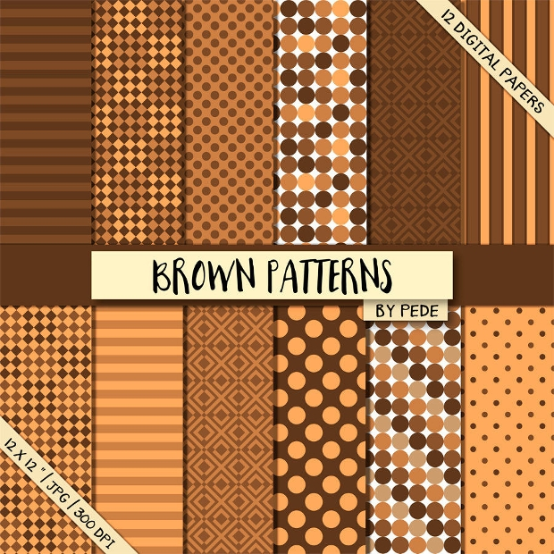 Set of Brown Patterns
