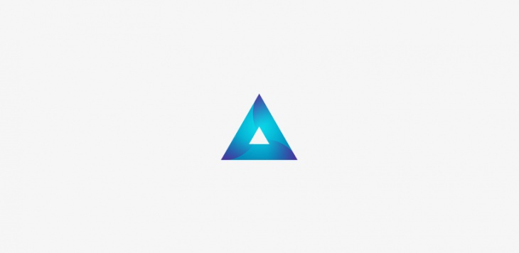 Blue Triangle Logo Design
