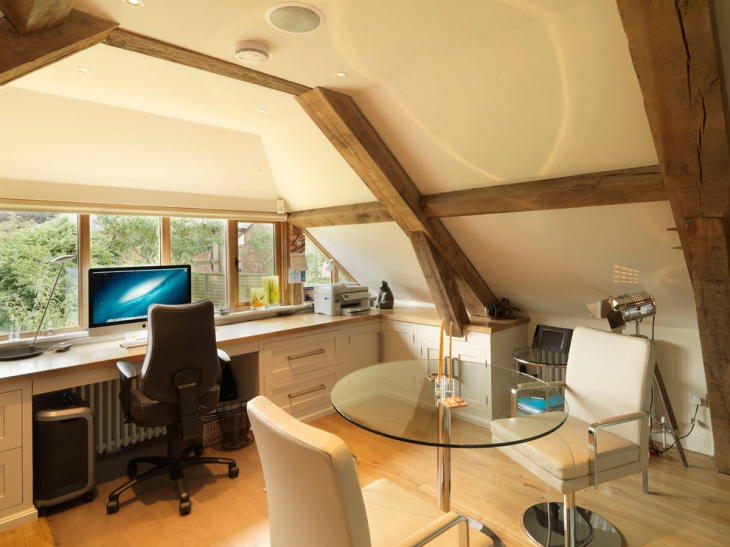 space saving home office design picture