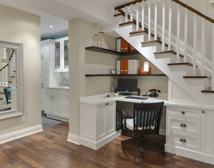 Modular Home Office Under The Stairs