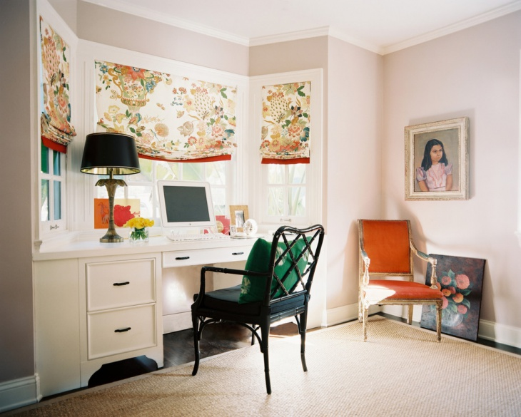 Eclectic White Home Office Furniture