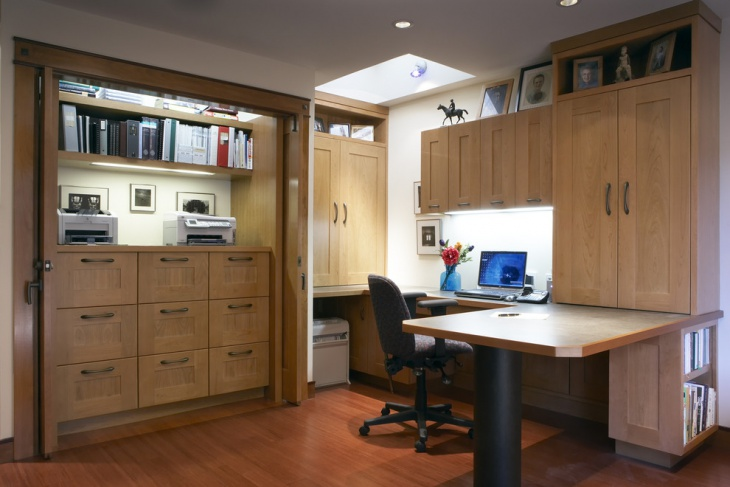 Modular Home Office With Cabinets
