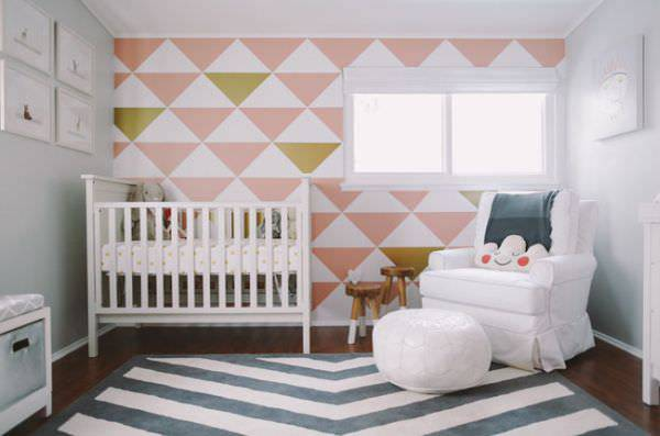 simple wall designs for nursery