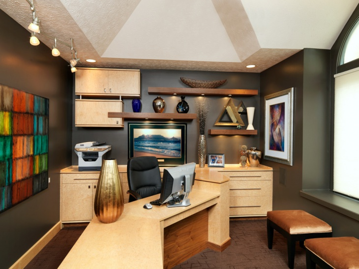 Modular home office furniture designs ideas plans for Unique office interiors