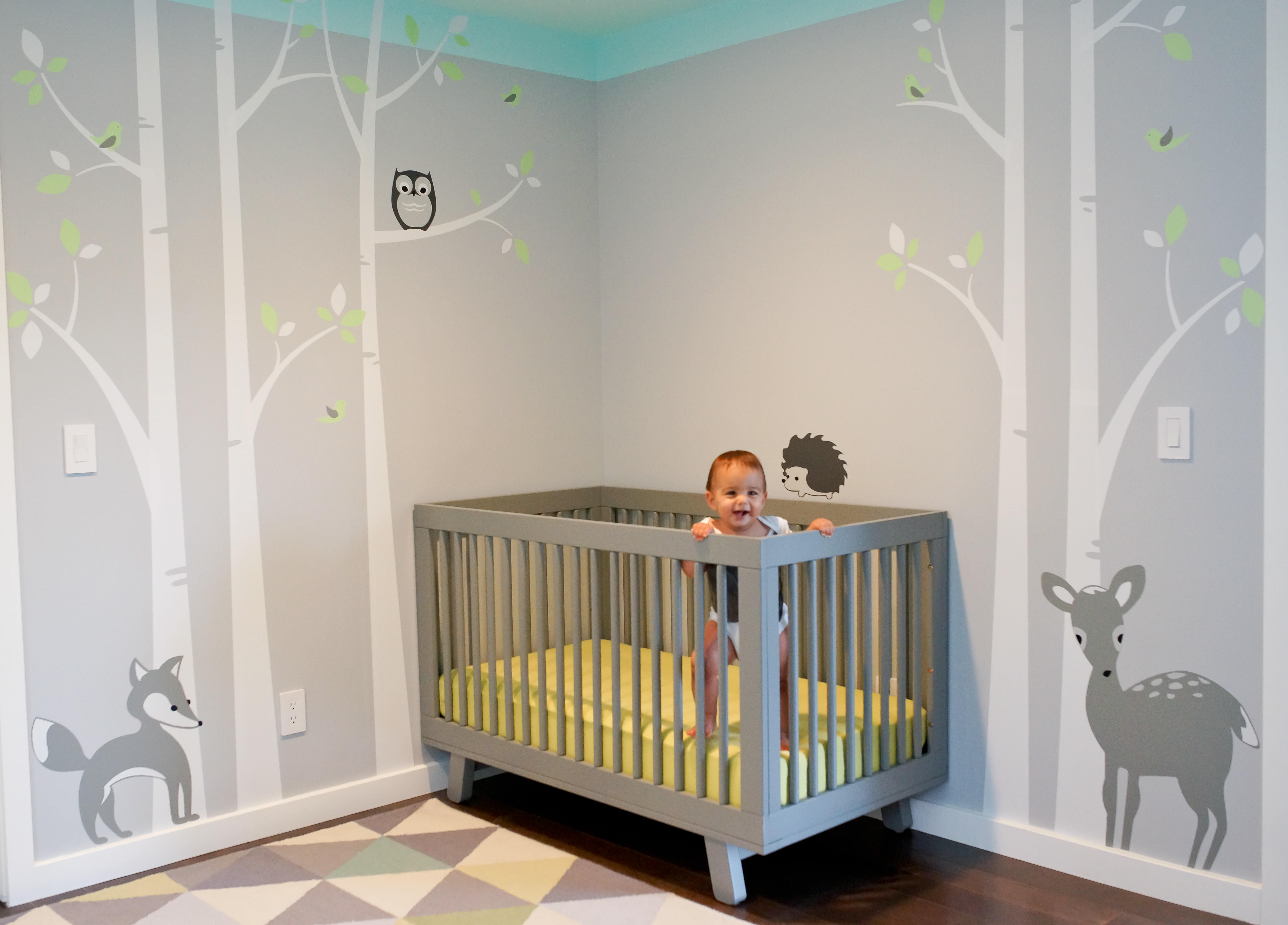 Pastel baby kamer decor Nursery wall ideas