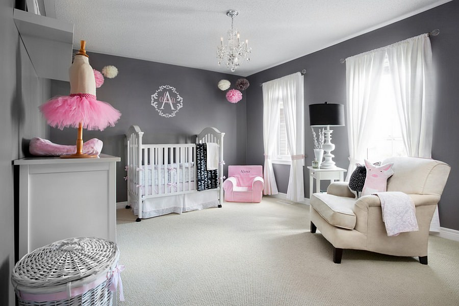 gray wall designs for nursery