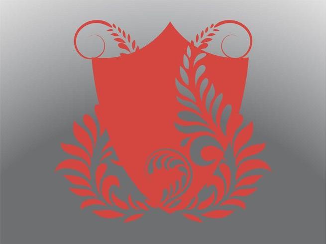 retro shield vector