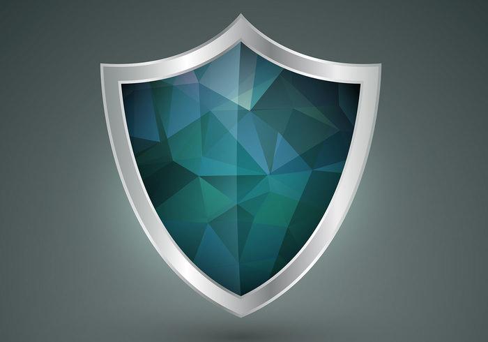 polygonal shield vector