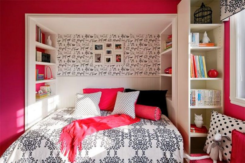 14 wall designs decor ideas for teenage bedrooms design trends - Design A Girls Bedroom