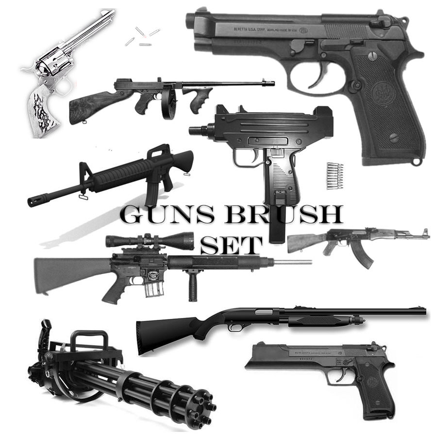 Guns Brush Set