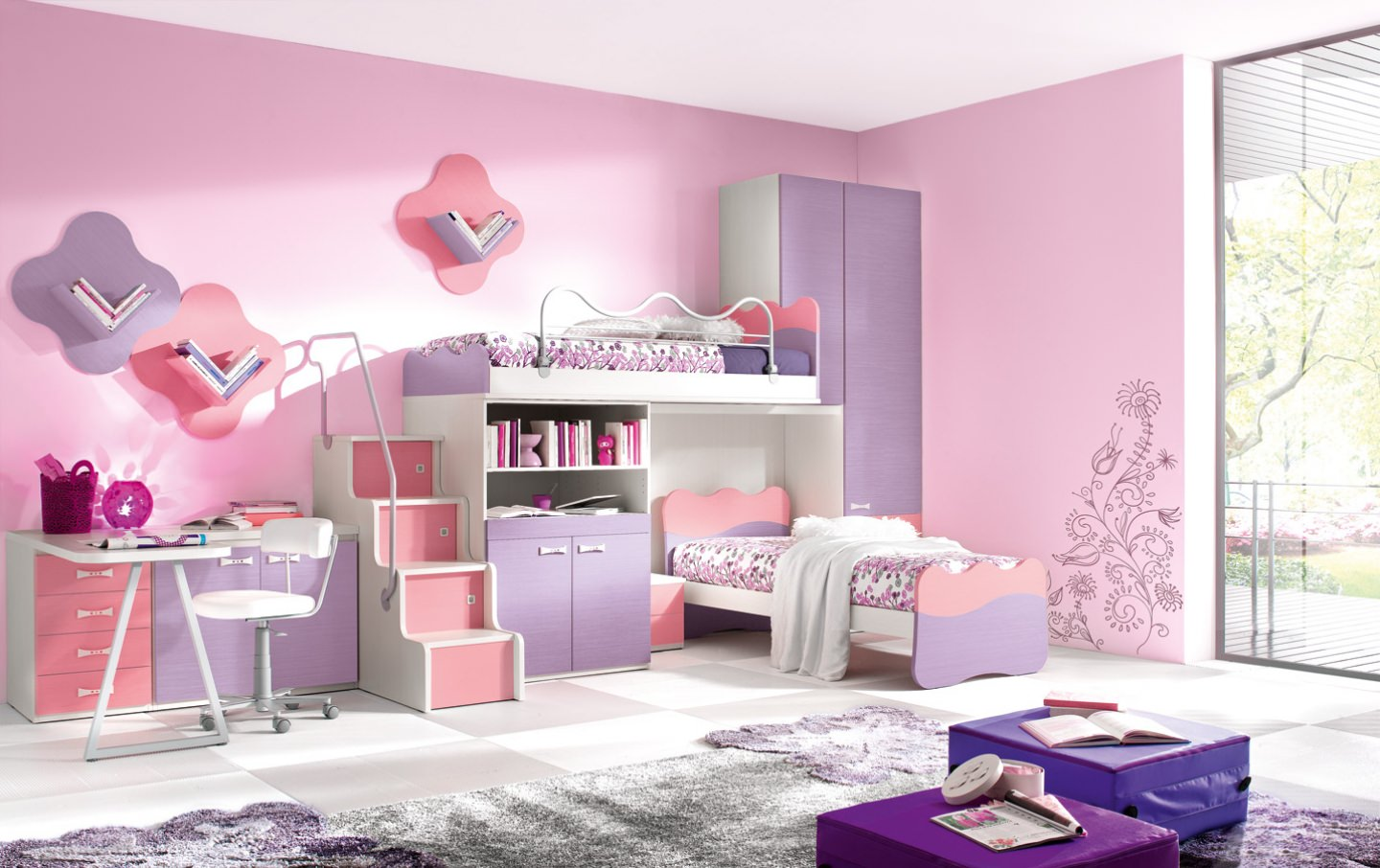 Bedroom wall designs for teenage girls - New Wall Design For Teenage Bedroom