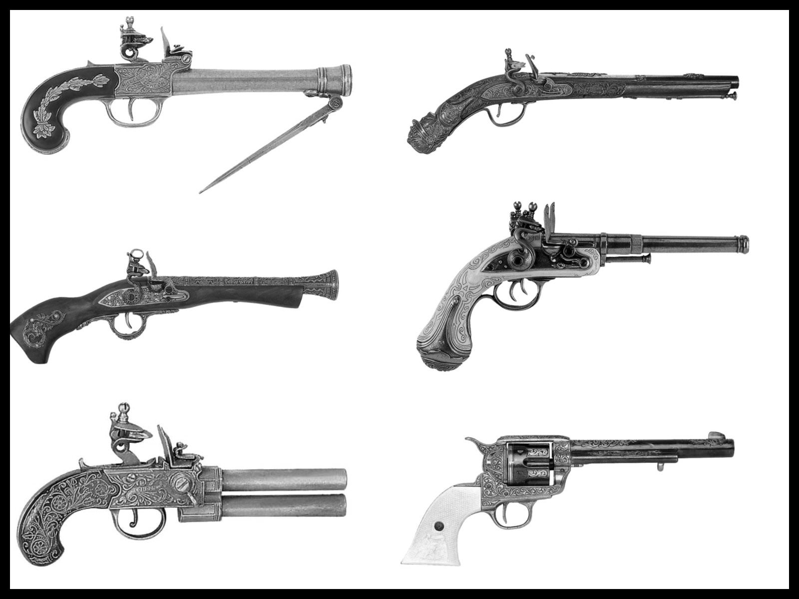 Classic Guns Brushes