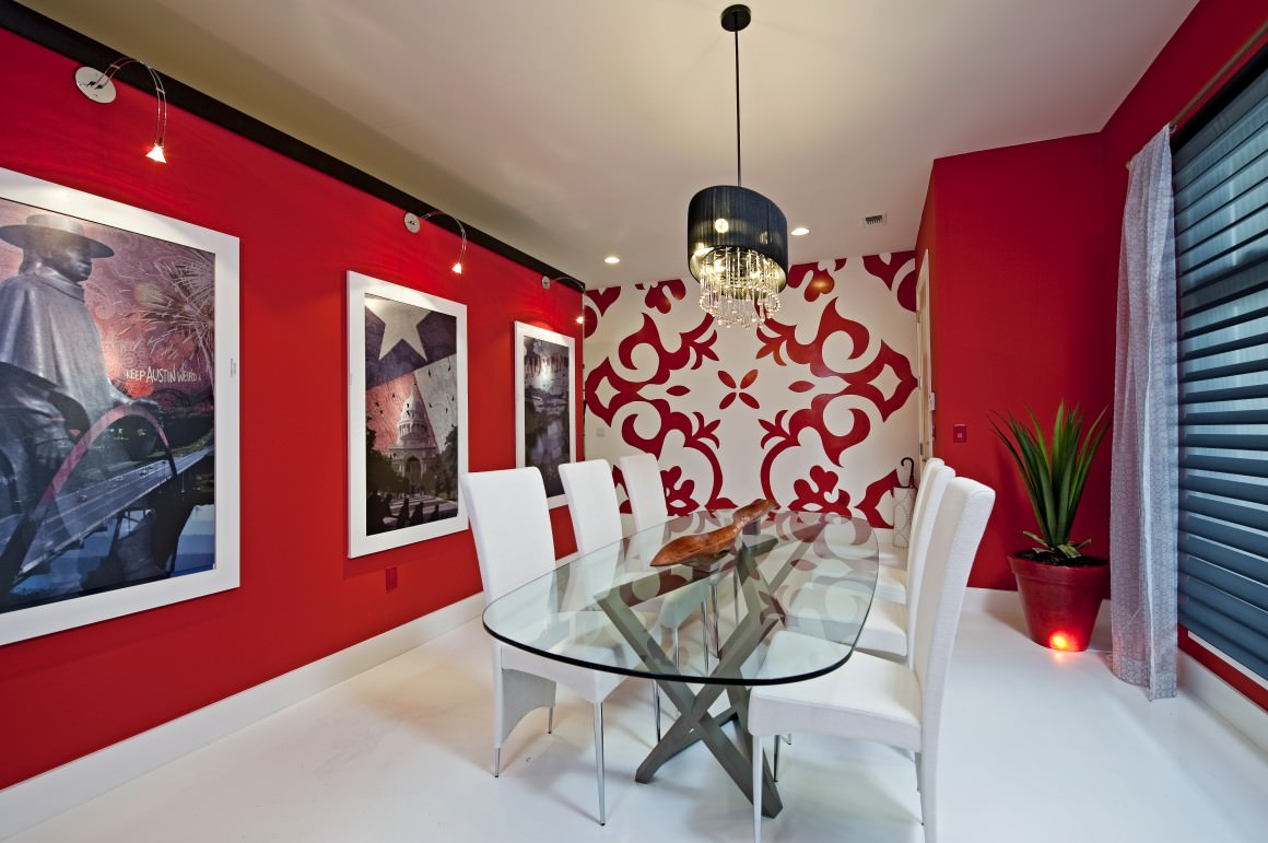 Luxurious Style Red Dining Room Design