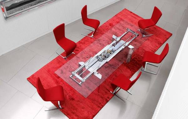 Beautiful Red Dining Room Design