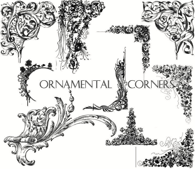 Decorative Ornamental Brushes