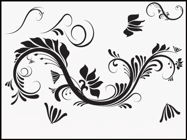 Elegant Decorative Brush