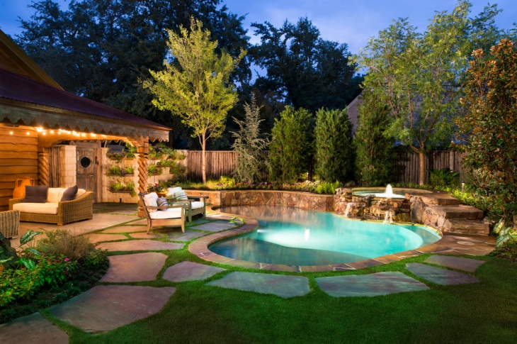 natural pool setting idea for backyard