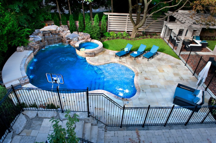 custom designed ground pool