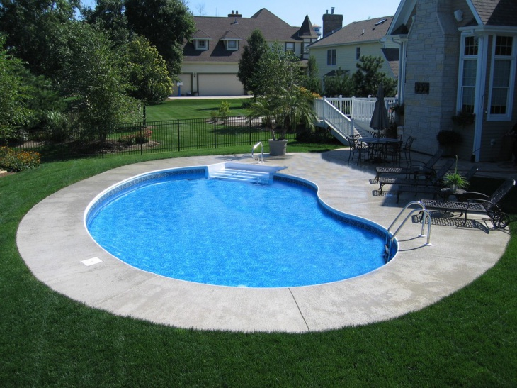 beautiful vinyl liner pool