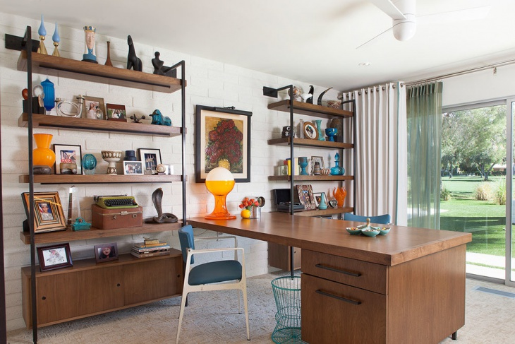 20 mid century modern home office designs decorating ideas design