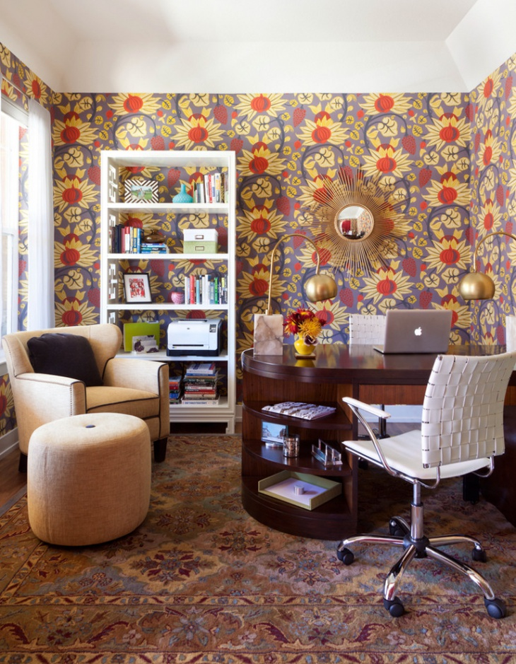 feminine modern home office design