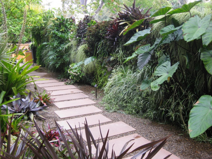 Concrete Stone Garden Walkway Designs