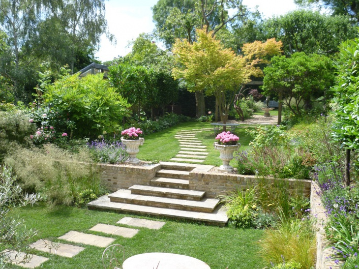 19 garden walkway designs decorating ideas design for Large garden ideas