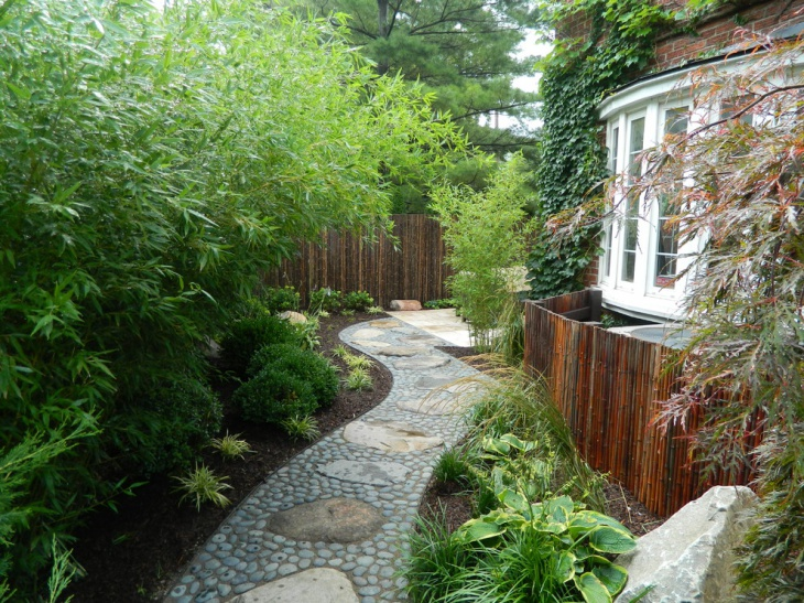 Pebble Garden Walkway Design Picture
