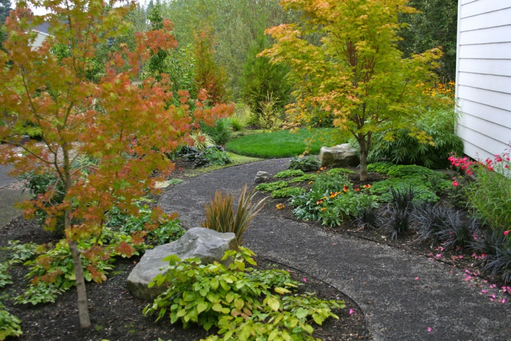 Curved Gravel Landscape Path