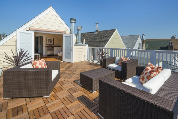 Modern Roof Top Deck With Chairs