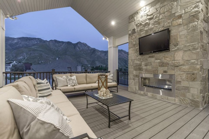Gray Deck For Outdoor Patio Design