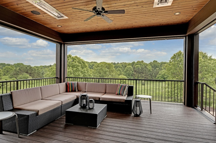 Lodge Outdoor Transitional Deck