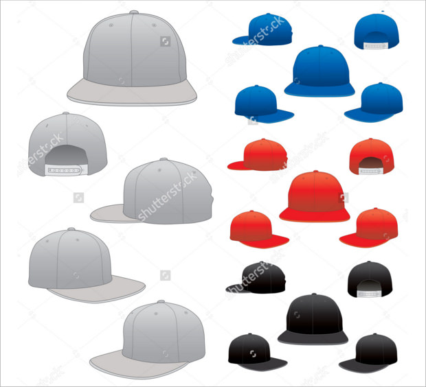collection of varieties of cap mock ups