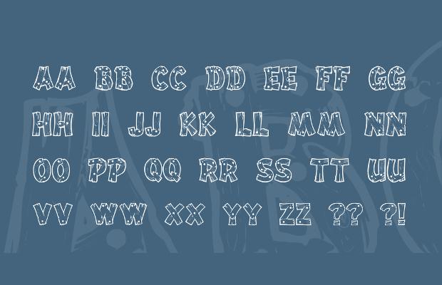 wood letters font