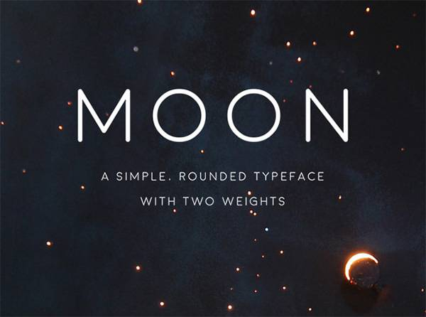 high quality free font 2015 moon