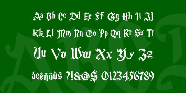 Magic School Font for Harry Potter