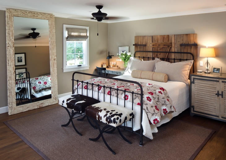 Rustic Farmhouse Bedroom Design Picture