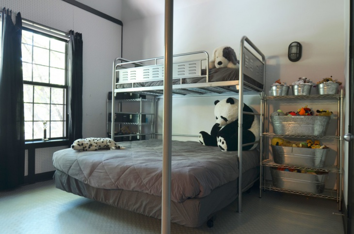 Two Storey Metal Bed For Kids