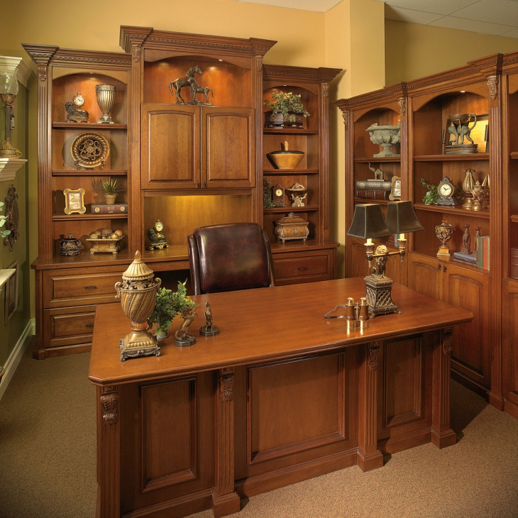Home Desk Design Ideas: 17+ Executive Office Designs, Decorating Ideas