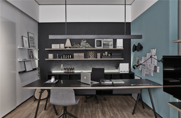 black executive office interior