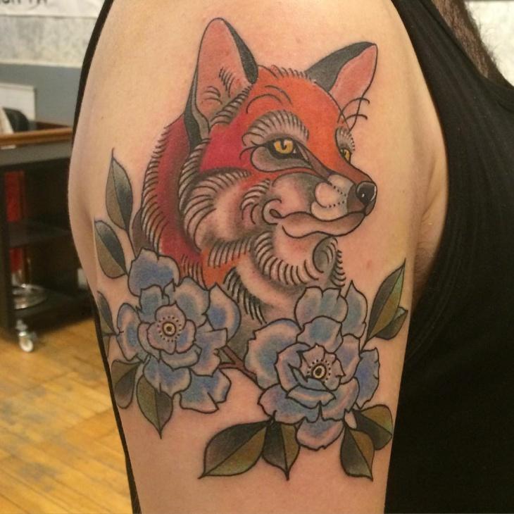 flower with nice tattoo design