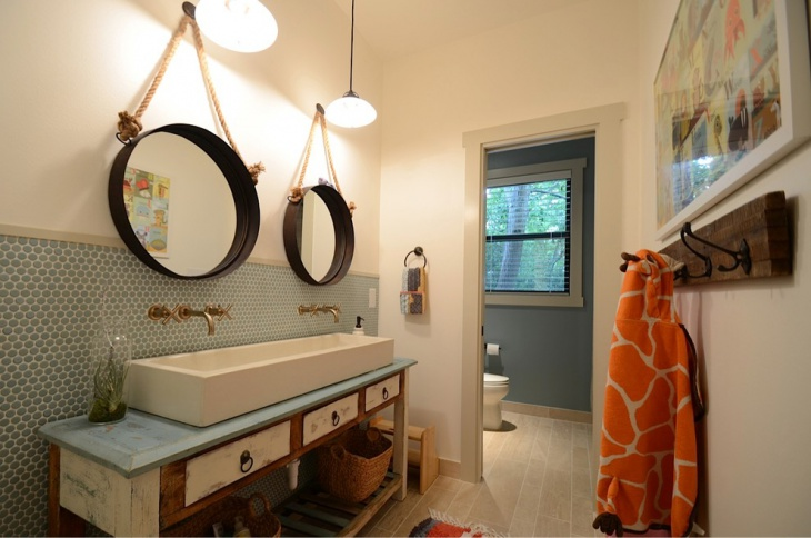 Circular Mirrors For Kids Bathroom
