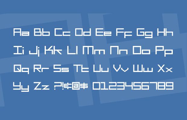 square head font