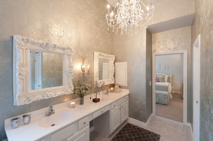 decorating bathroom mirrors idea