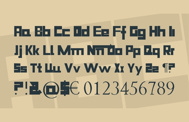 15  blocky square fonts