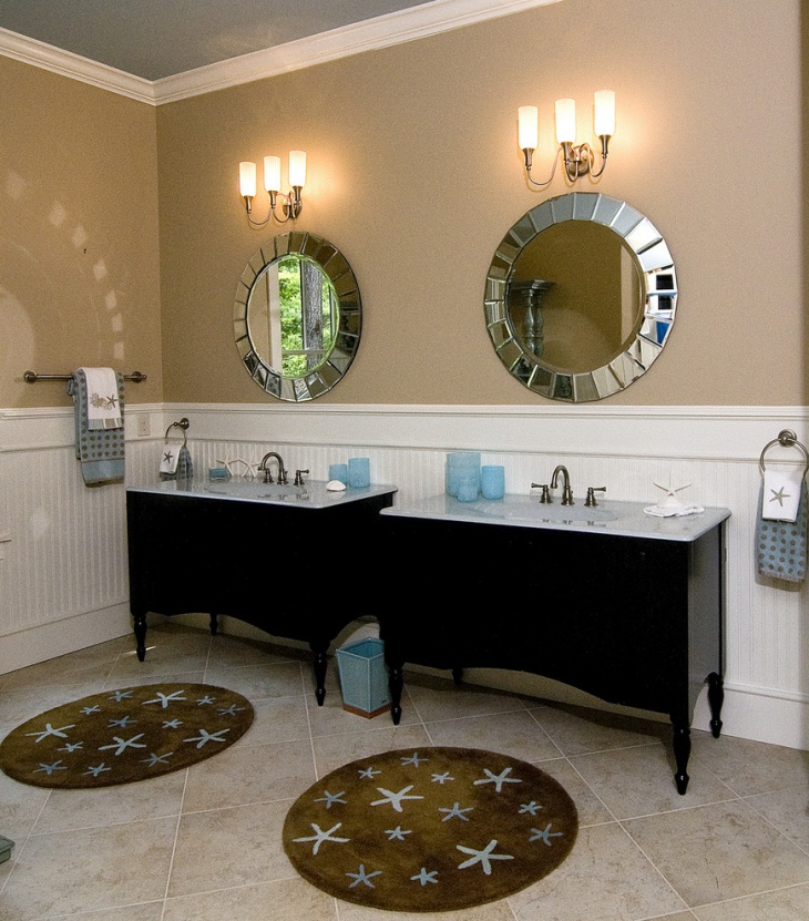 Coastal Master Bathroom Mirror