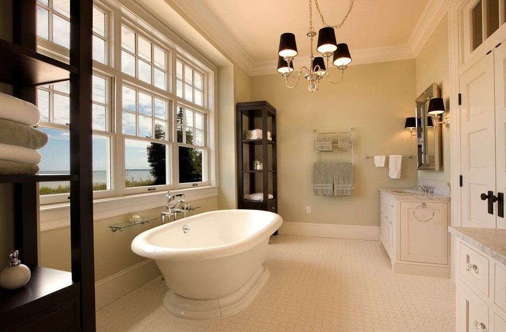 20+ Bathroom Chandelier Designs, Decorating Ideas | Design Trends ...